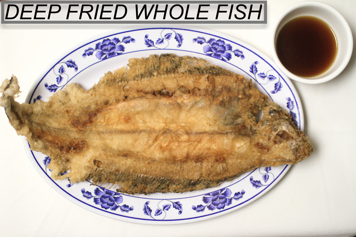 Lv lunch menu for Deep fried whole fish